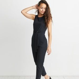 New Marine Layer Wrap Jumpsuit in Black Women's